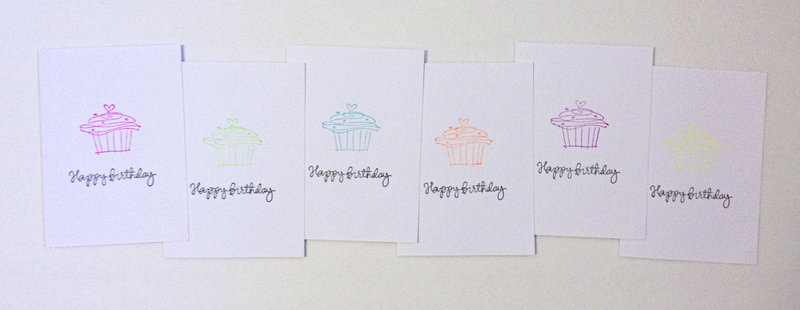Neon Birthday Cards