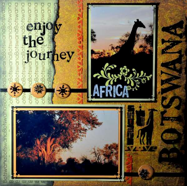 SAFARI - Botswana Title Page
