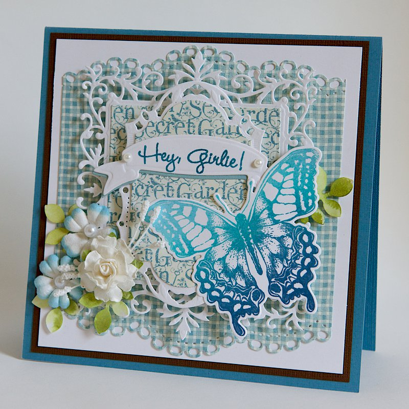 Hey Girlie!  - 6X6 Graphic 45 Card