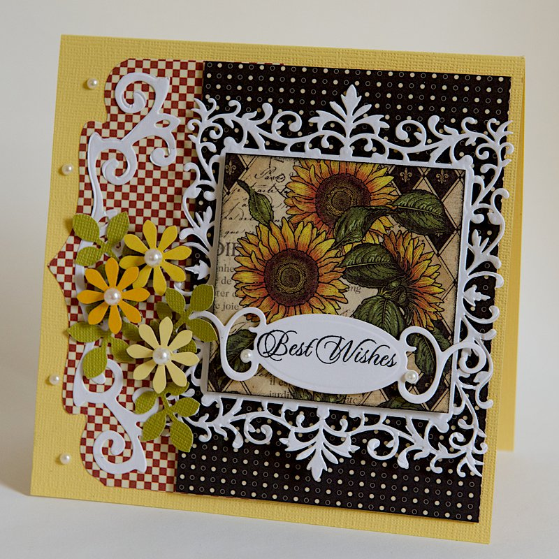 Best Wishes - 6x6 Card - Graphic 45