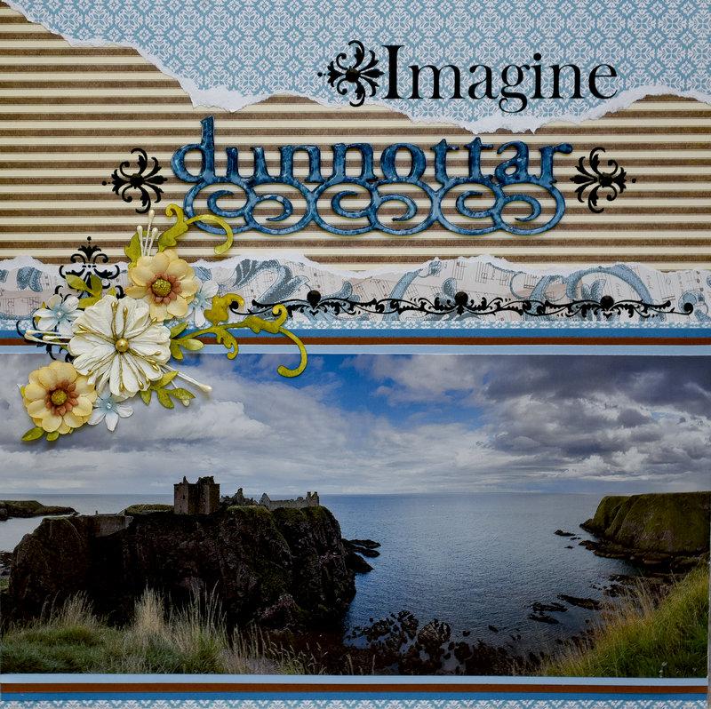 Imagine Dunnottar (Castle), Scotland - LEFT SIDE