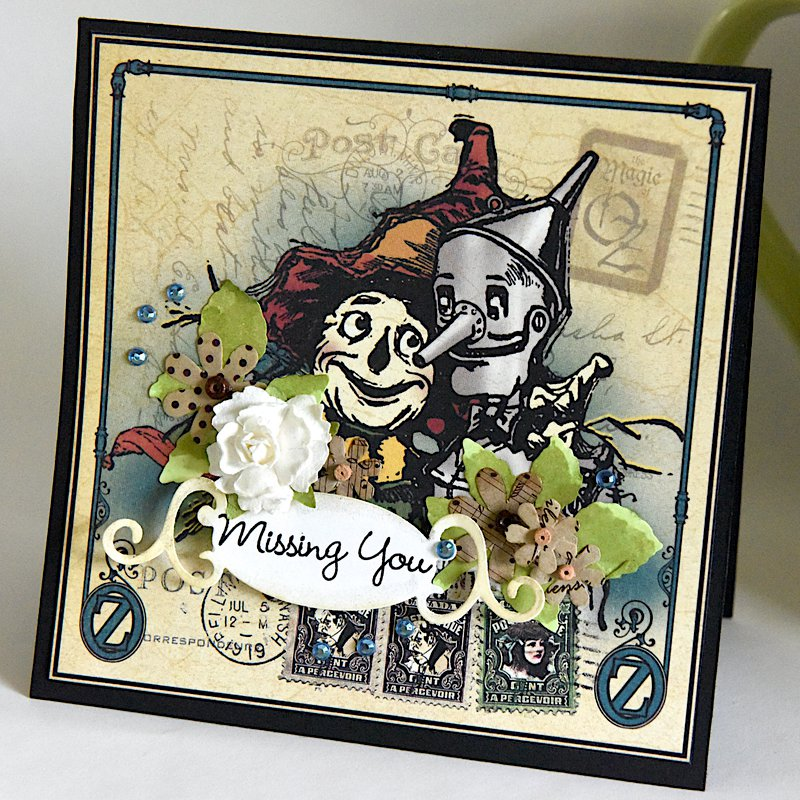 Graphic45 Missing You  6x6 Card