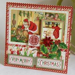 Graphic45 Christmas Card - 6x6