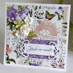 Graphic 45 - You're So Sweet - Thank you Card - 6x6