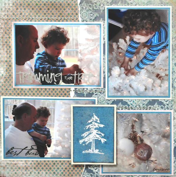 Snowy Tree - LEFT SIDE