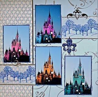 Cinderella's Castle - Disney World, Florida - LEFT SIDE