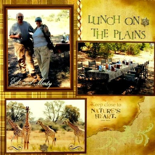 Lunch on the Plains - Botswana, Africa - RIGHT SIDE