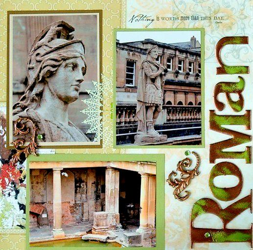 Roman Baths, Bath, England - LEFT SIDE