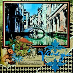 Venezia (Venice) Italy - TITLE PAGE - RIGHT SIDE