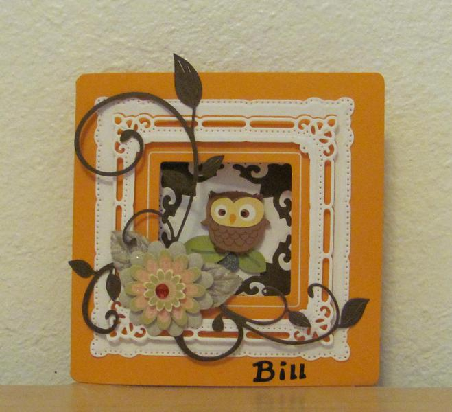Owl Birthday Tri-Fold Card - 1