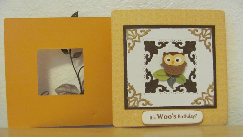 Owl Birthday Tri-Fold Card - 2