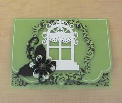 Green and Black Christmas Card