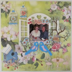 Love Birds - 13th Wedding Anniversary