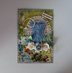 Corset Birthday Card