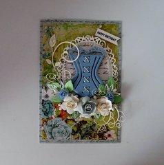 Corset Birthday Card
