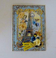 Paris Birthday Card