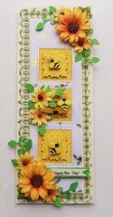 Happy Bee-Day Slimline Card