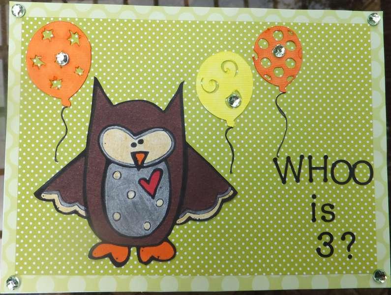 Hudson's birthday card