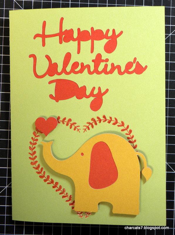 Happy Valentine's Day w/elephant