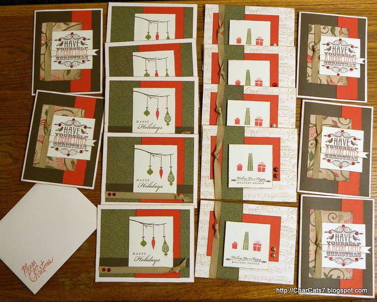 CTMH Pear & Partridge 2012 Christmas Card kit