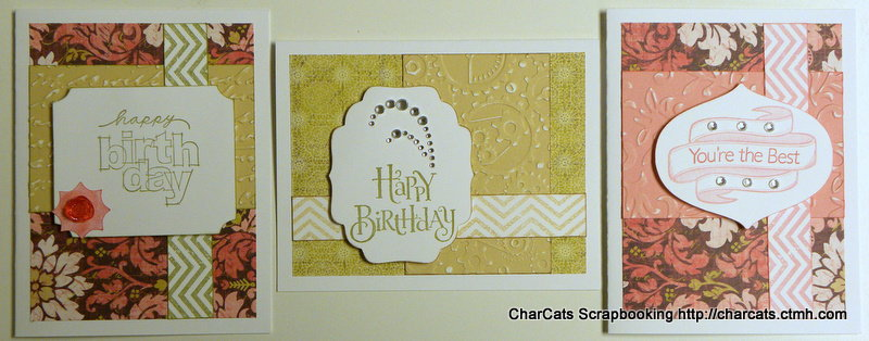 cards for a workshop (CTMH Ivy Lane)