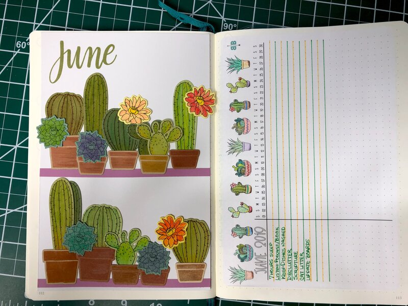 June BuJo Title Page