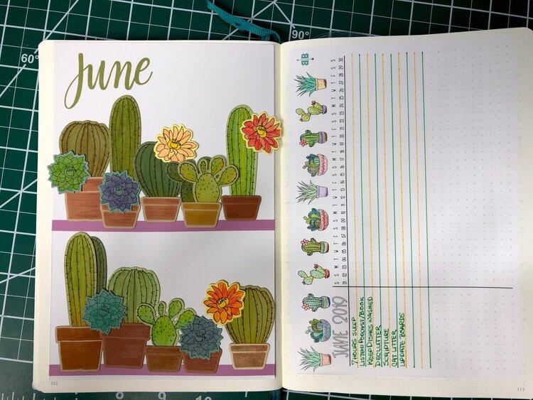 June BuJo Title Page