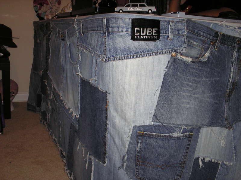 Denim Table Skirt