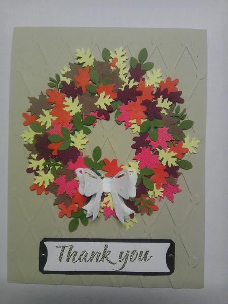 Thank you card perfect for Autumn