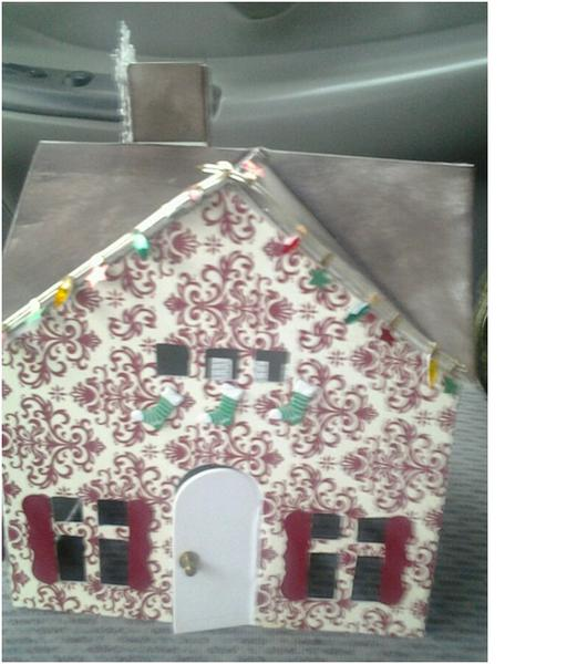 Stampin Up xmas village house