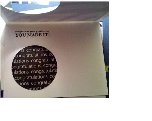 Graduation card - Inside