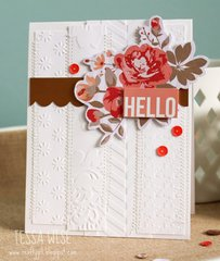 Embossed Hello Card