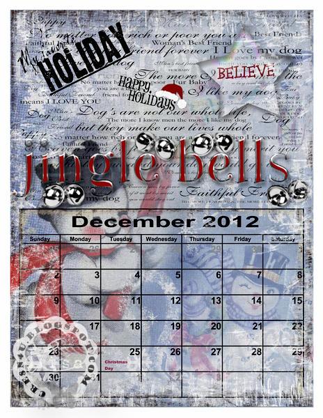 December 2012 Calender