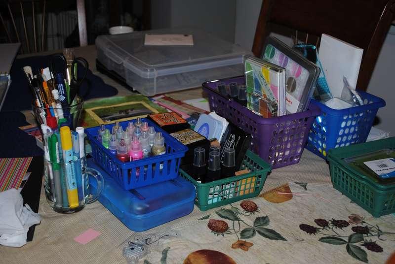 My organized scrap space