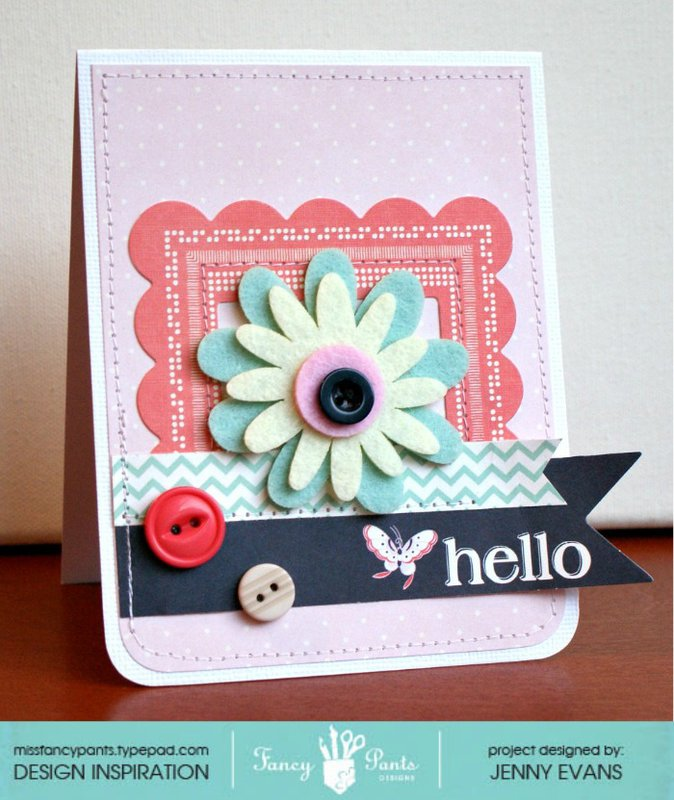Hello card *Fancy Pants Designs*