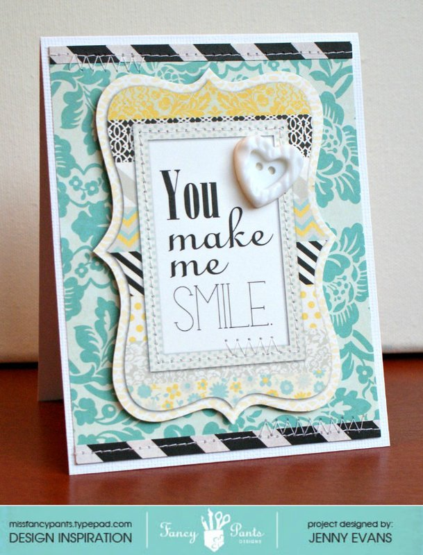 Smile card *Fancy Pants Designs*