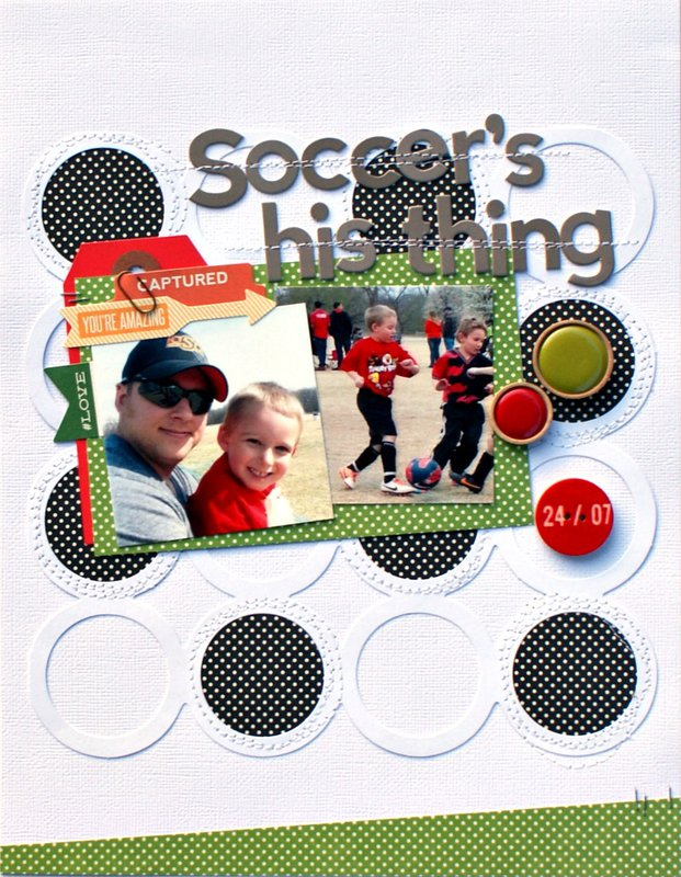 Soccer's his thing *Jillibean Soup*