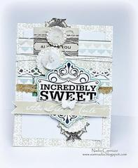 Incredibly Sweet card *Scraps Of Elegance April Kit *