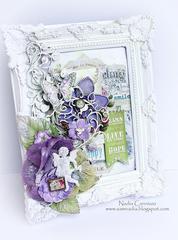 Altered frame *Scraps Of Elegance April Kit *
