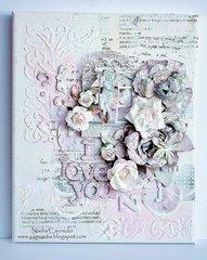 I Love You canvas *Donna Salazar Designs*