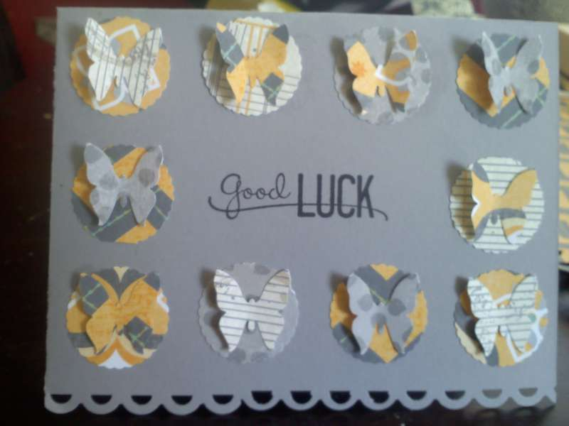 "Good Luck Butterfly card for ""punched"" theme swap"