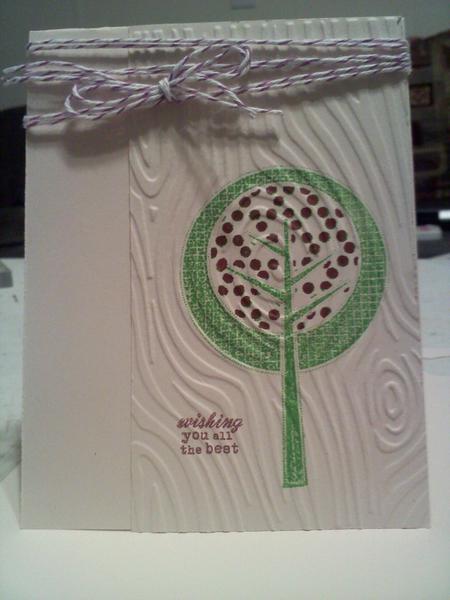 Woodgrain tree card