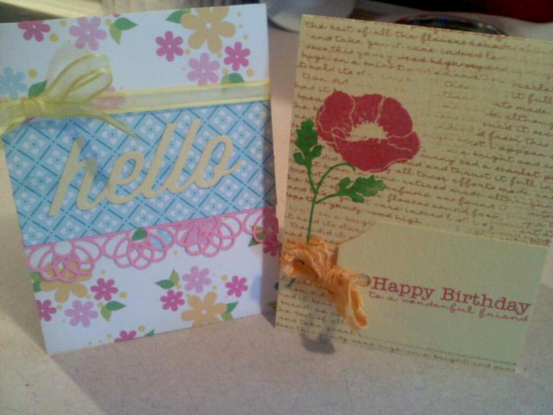 Spring cards I made recently