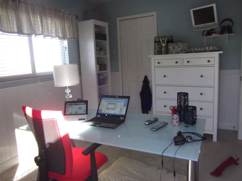 Desk and additional storage