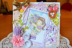 Lavender tilda card