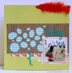 Today by Mary Ann Jenkins featuring the new Pinwheel Collection from Lily Bee