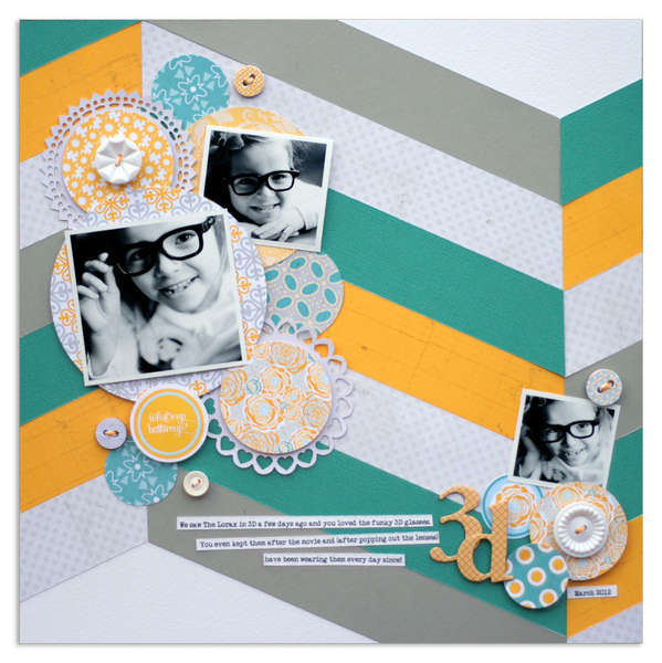 3D by Lisa Dickenson featuring Buttercup from Lily Bee