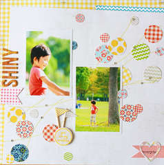 Shiny by Michi Nobeno featuring Lily Bee Handmade and Double Dutch Collections