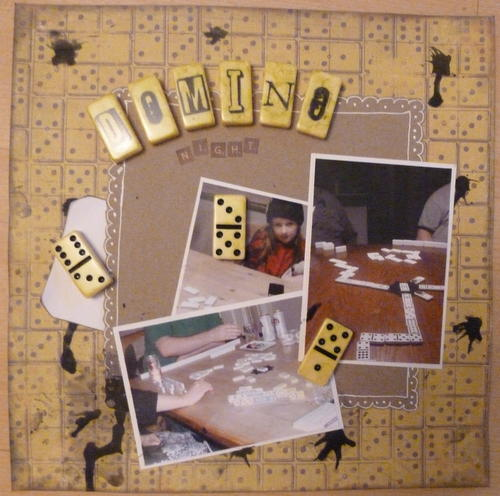 Domino Night **DT Work for Paper Mixing Bowl** September Challenge