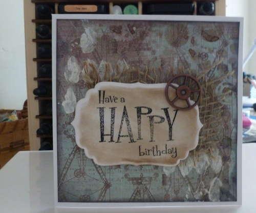 Merlin's Birthday Card **Swirlydoos Card Challenge**